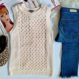 Chelsea28 ❤️ Open Knit Sleeveless Sweater